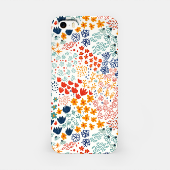 Thumbnail image of Meadow Flowers Minimal Illustration, Botanical Nature Floral Colorful Summer Painting iPhone Case, Live Heroes