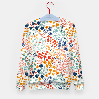 Thumbnail image of Meadow Flowers Minimal Illustration, Botanical Nature Floral Colorful Summer Painting Kid's sweater, Live Heroes