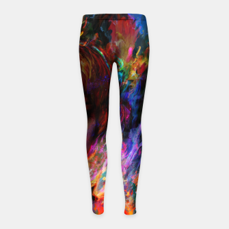 Thumbnail image of free yourself Girl's leggings, Live Heroes