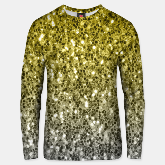 Thumbnail image of Dark ultimate gray illuminating yellow sparkles ombre Unisex sweater, Live Heroes