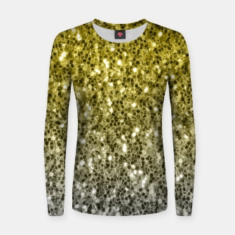 Thumbnail image of Dark ultimate gray illuminating yellow sparkles ombre Women sweater, Live Heroes