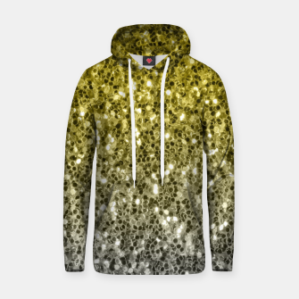 Thumbnail image of Dark ultimate gray illuminating yellow sparkles ombre Hoodie, Live Heroes