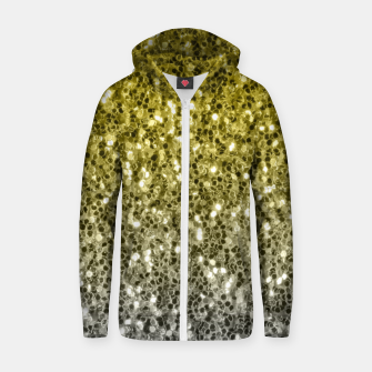 Thumbnail image of Dark ultimate gray illuminating yellow sparkles ombre Zip up hoodie, Live Heroes