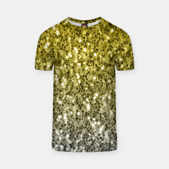 Thumbnail image of Dark ultimate gray illuminating yellow sparkles ombre T-shirt, Live Heroes