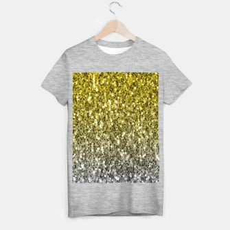 Thumbnail image of Dark ultimate gray illuminating yellow sparkles ombre T-shirt regular, Live Heroes