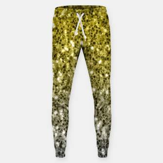 Thumbnail image of Dark ultimate gray illuminating yellow sparkles ombre Sweatpants, Live Heroes