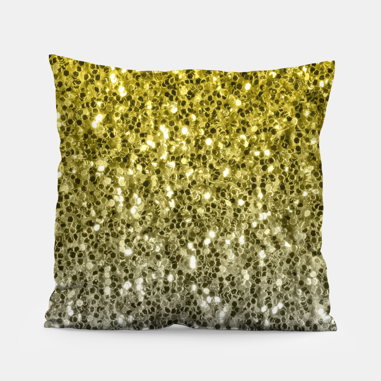 Image of Dark ultimate gray illuminating yellow sparkles ombre Pillow - Live Heroes
