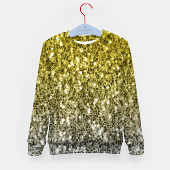 Thumbnail image of Dark ultimate gray illuminating yellow sparkles ombre Kid's sweater, Live Heroes