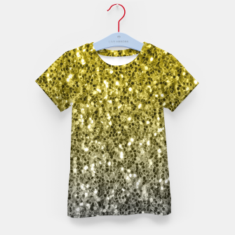 Thumbnail image of Dark ultimate gray illuminating yellow sparkles ombre Kid's t-shirt, Live Heroes