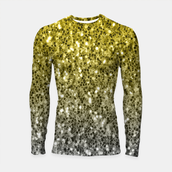Thumbnail image of Dark ultimate gray illuminating yellow sparkles ombre Longsleeve rashguard , Live Heroes