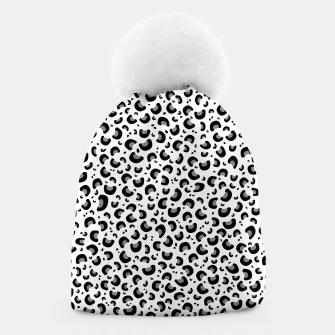 Thumbnail image of Snow Leopard Print Beanie, Live Heroes