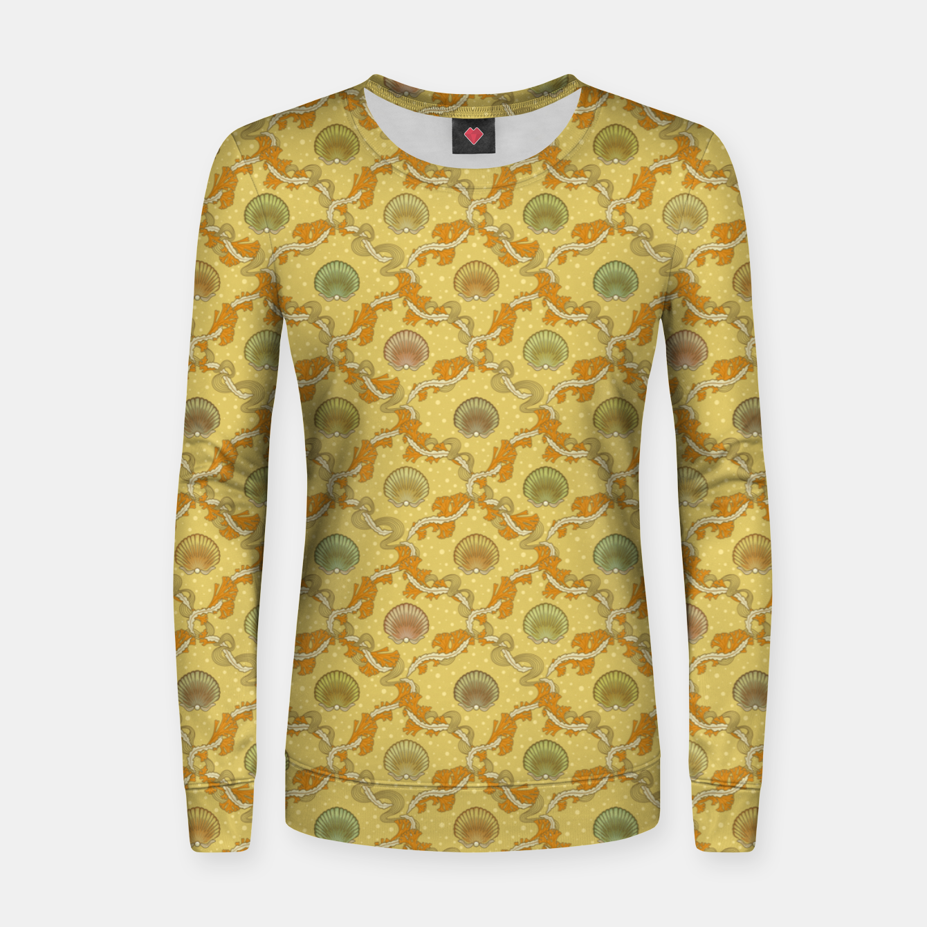Foto The elegant grace of nature: scallop shells and sea weeds Women sweater - Live Heroes