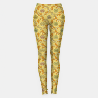 Miniatur The elegant grace of nature: scallop shells and sea weeds Leggings, Live Heroes