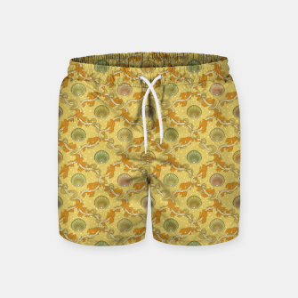 Miniatur The elegant grace of nature: scallop shells and sea weeds Swim Shorts, Live Heroes