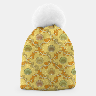 Miniatur The elegant grace of nature: scallop shells and sea weeds Beanie, Live Heroes
