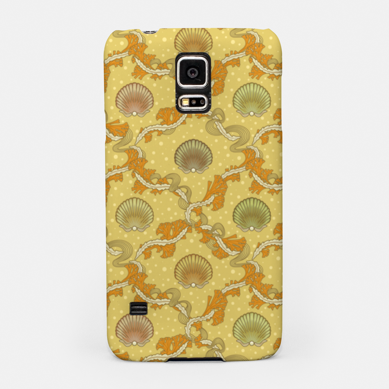 Foto The elegant grace of nature: scallop shells and sea weeds Samsung Case - Live Heroes