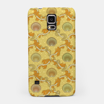 Miniatur The elegant grace of nature: scallop shells and sea weeds Samsung Case, Live Heroes