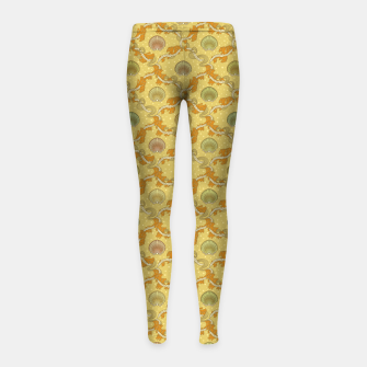 Miniatur The elegant grace of nature: scallop shells and sea weeds Girl's leggings, Live Heroes