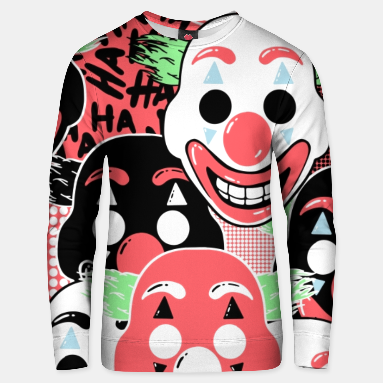 Image of Put on a happy face - Unisex sweater - Live Heroes