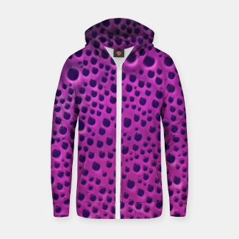 Purple Abstract Print Design Zip up hoodie thumbnail image