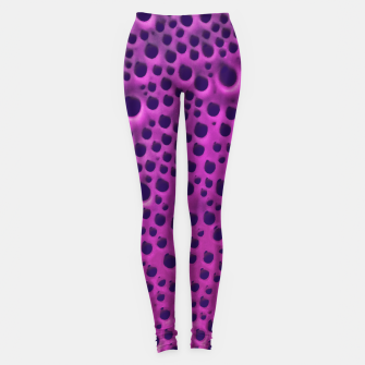 Purple Abstract Print Design Leggings thumbnail image