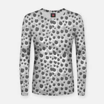 Thumbnail image of Silver Abstract Print Design Women sweater, Live Heroes