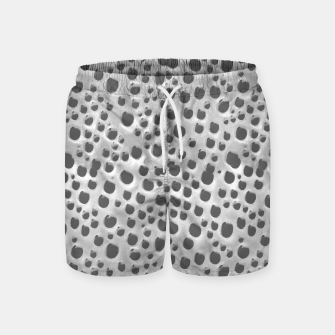 Thumbnail image of Silver Abstract Print Design Swim Shorts, Live Heroes