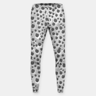 Thumbnail image of Silver Abstract Print Design Sweatpants, Live Heroes
