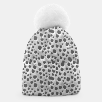 Thumbnail image of Silver Abstract Print Design Beanie, Live Heroes