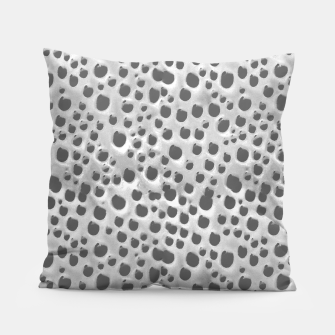 Thumbnail image of Silver Abstract Print Design Pillow, Live Heroes
