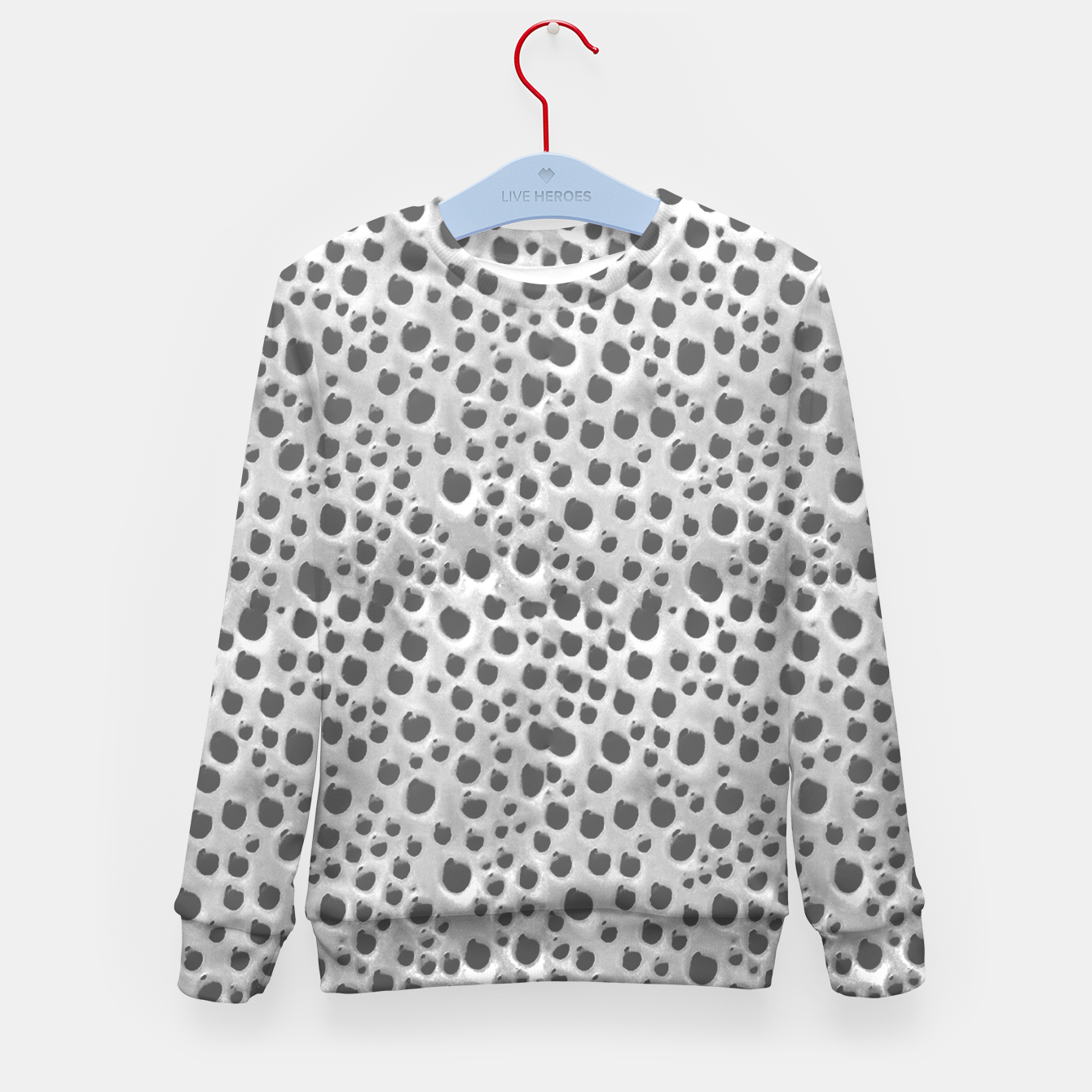 Image of Silver Abstract Print Design Kid's sweater - Live Heroes