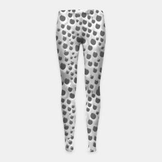 Thumbnail image of Silver Abstract Print Design Girl's leggings, Live Heroes