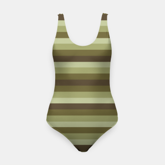 Thumbnail image of Linear Warm Print Design Swimsuit, Live Heroes