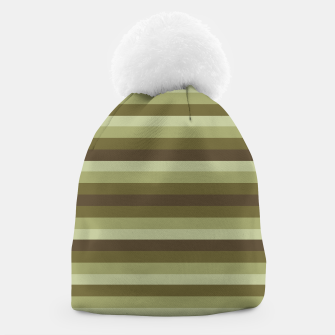 Thumbnail image of Linear Warm Print Design Beanie, Live Heroes
