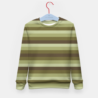 Thumbnail image of Linear Warm Print Design Kid's sweater, Live Heroes