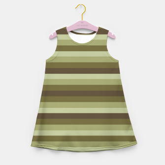 Thumbnail image of Linear Warm Print Design Girl's summer dress, Live Heroes