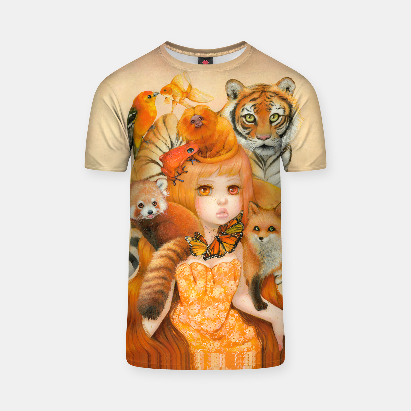 Image of Donna Aurantiaco T-Shirt - Live Heroes
