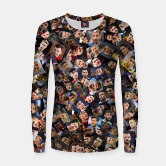 Thumbnail image of The best football players in the world Women sweater, Live Heroes