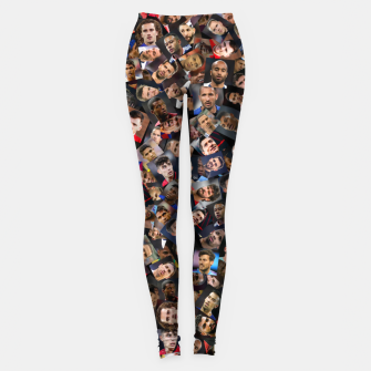 Thumbnail image of The best football players in the world Leggings, Live Heroes