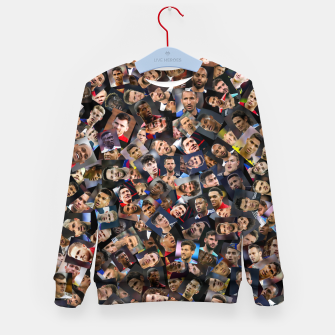 Thumbnail image of The best football players in the world Kid's sweater, Live Heroes