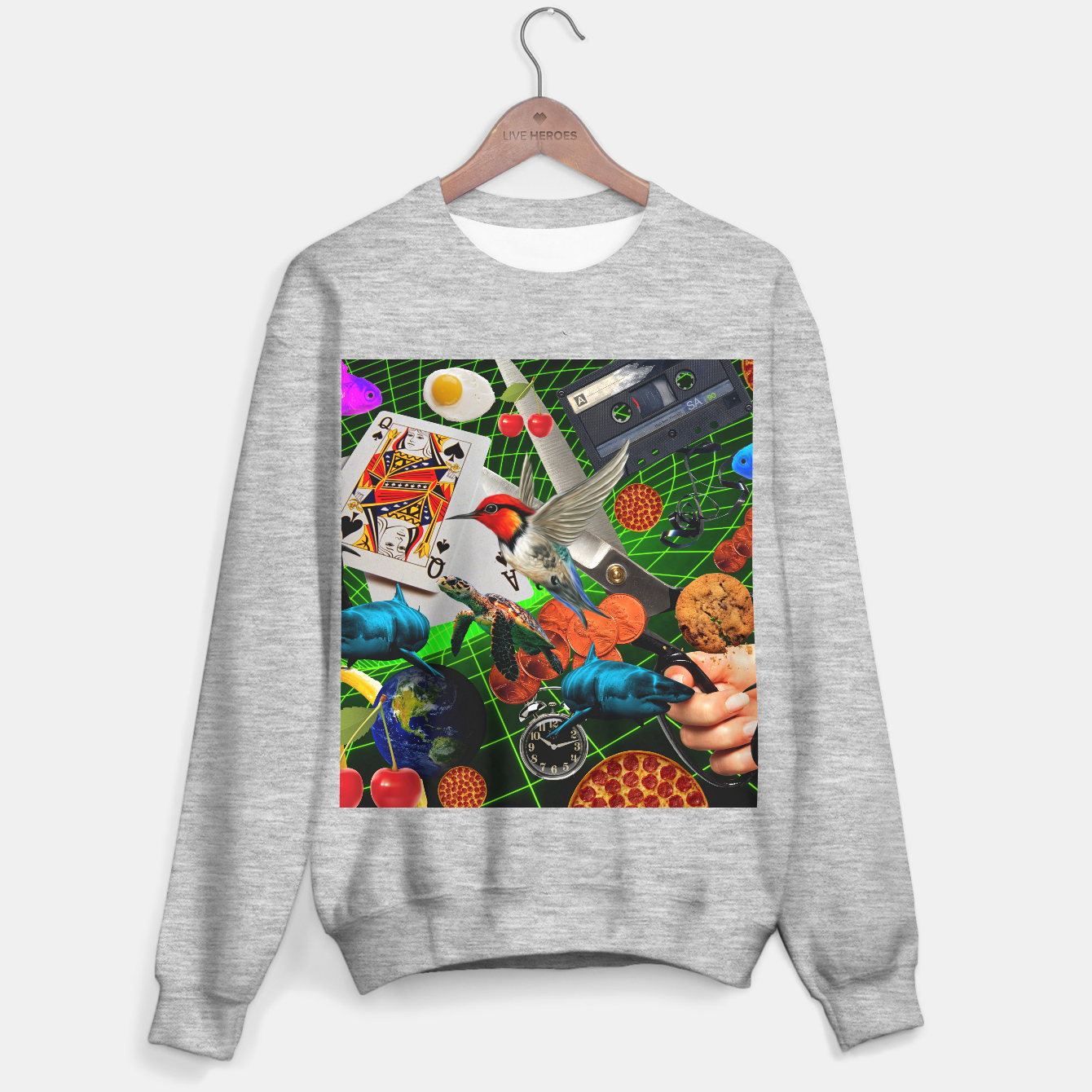 Image of THROUGH SPACE AND TIME  Sweater regular - Live Heroes