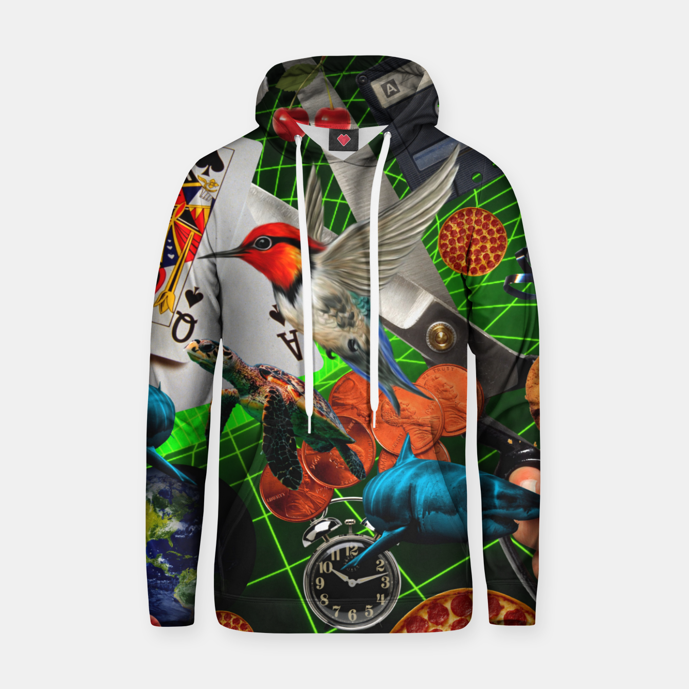 Image of THROUGH SPACE AND TIME  Hoodie - Live Heroes