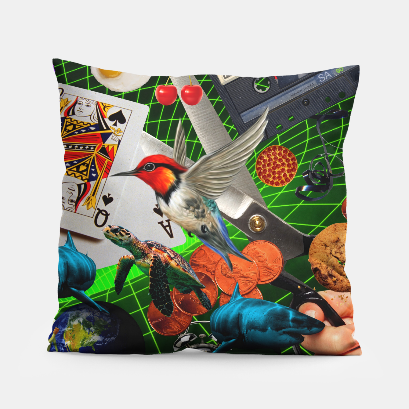 Image of THROUGH SPACE AND TIME  Pillow - Live Heroes