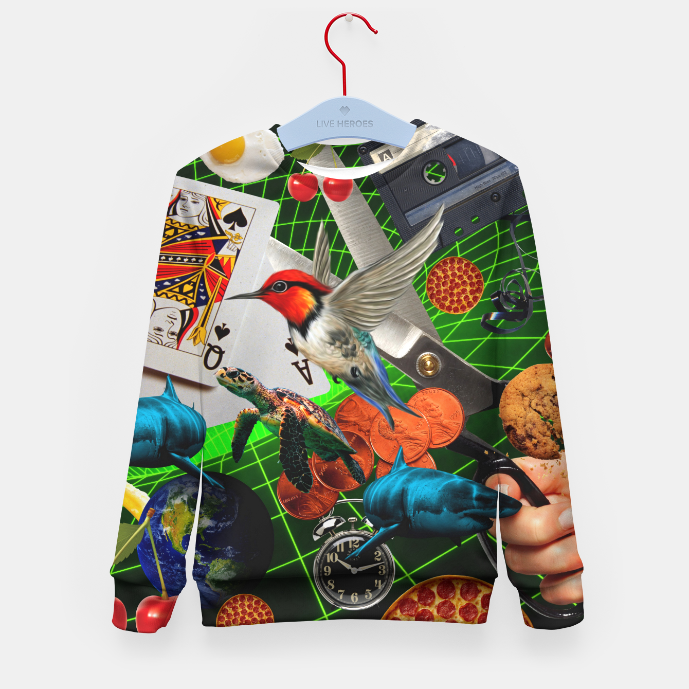 Image of THROUGH SPACE AND TIME  Kid's sweater - Live Heroes