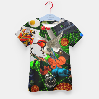 Thumbnail image of THROUGH SPACE AND TIME  Kid's t-shirt, Live Heroes