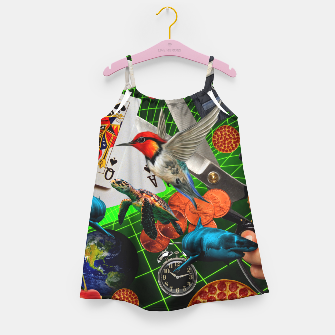 Image of THROUGH SPACE AND TIME  Girl's dress - Live Heroes