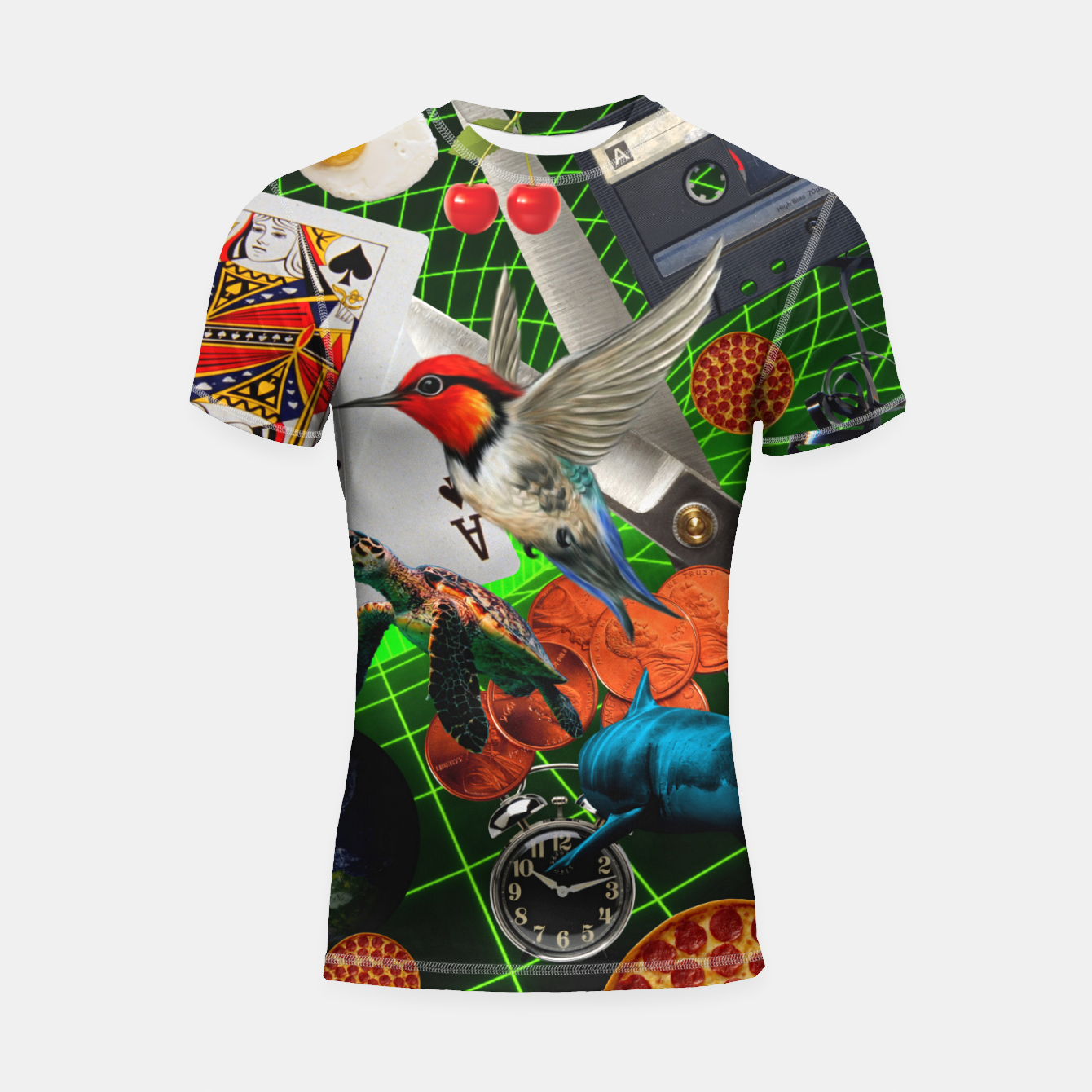 Image of THROUGH SPACE AND TIME  Shortsleeve rashguard - Live Heroes