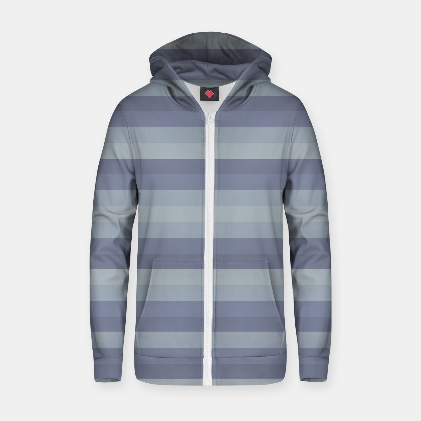 Image of Linear Cold Print Design Zip up hoodie - Live Heroes