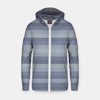 Linear Cold Print Design Zip up hoodie thumbnail image