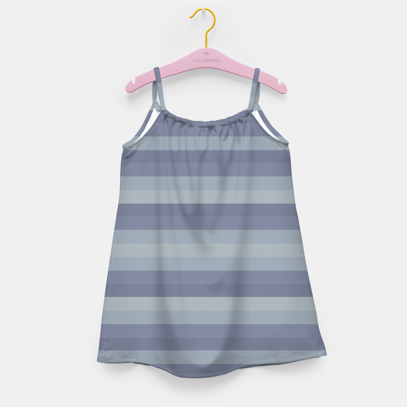 Image of Linear Cold Print Design Girl's dress - Live Heroes